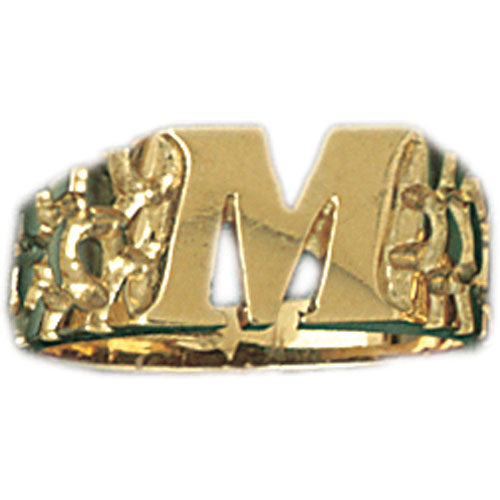 14k Yellow Gold Initial M Ring