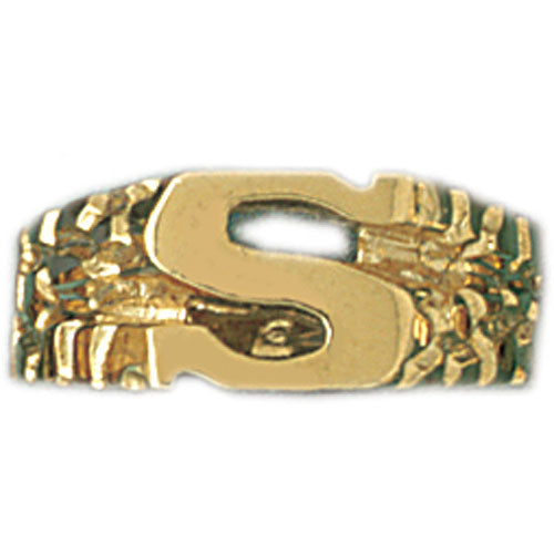 14k Yellow Gold Initial S Ring