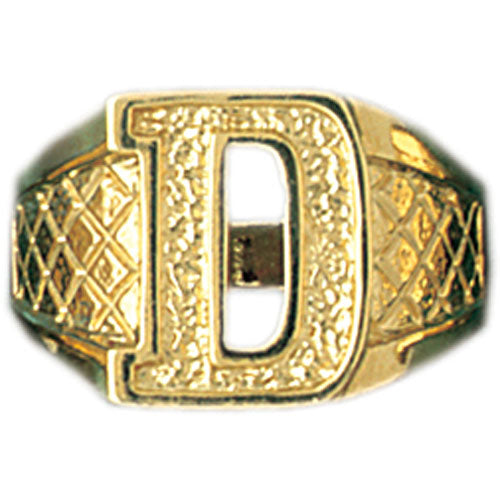14k Yellow Gold Initial D Ring