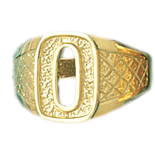 14k Yellow Gold Initial O Ring