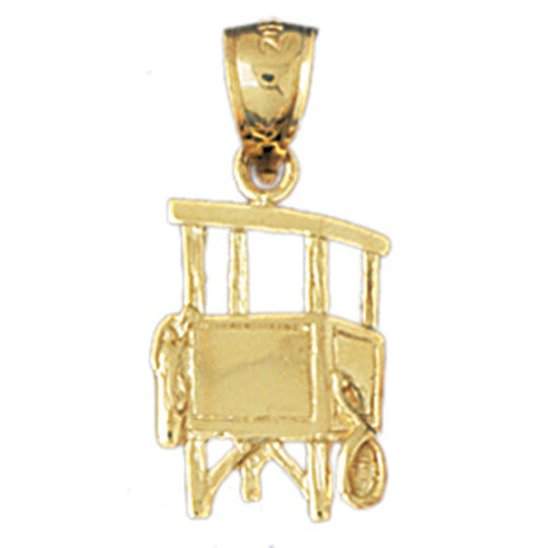 14k Yellow Gold Lifeguard stand Charm