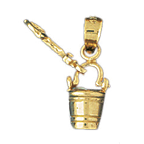 14k Yellow Gold Pail and Shovel Charm