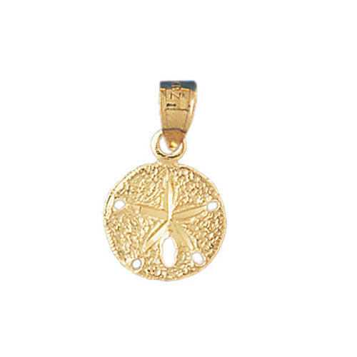 14k Yellow Gold Sand Dollar Charm