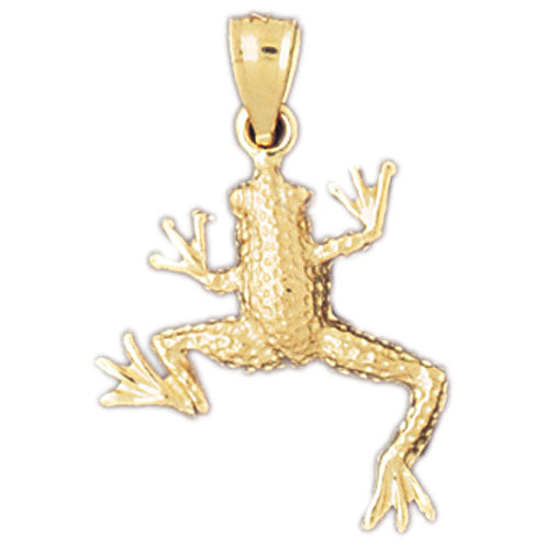 14k Yellow Gold Frog Charm