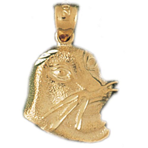 14k Yellow Gold Seal Charm