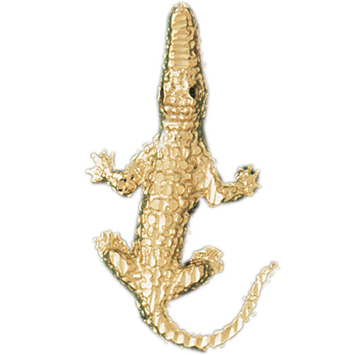 14k Yellow Gold Crocodile Charm