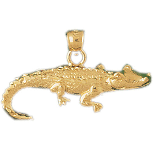 14k Yellow Gold Lizard Charm