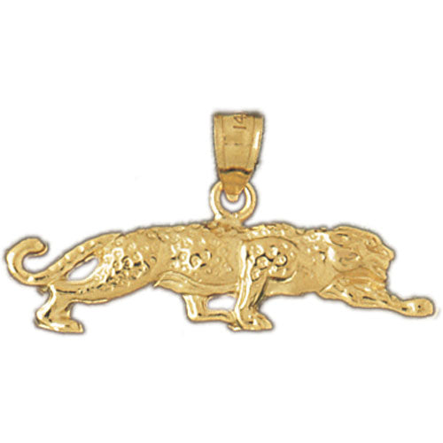 14k Yellow Gold Leopard Charm
