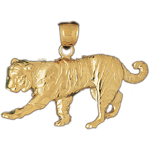 14k Yellow Gold Tiger Charm