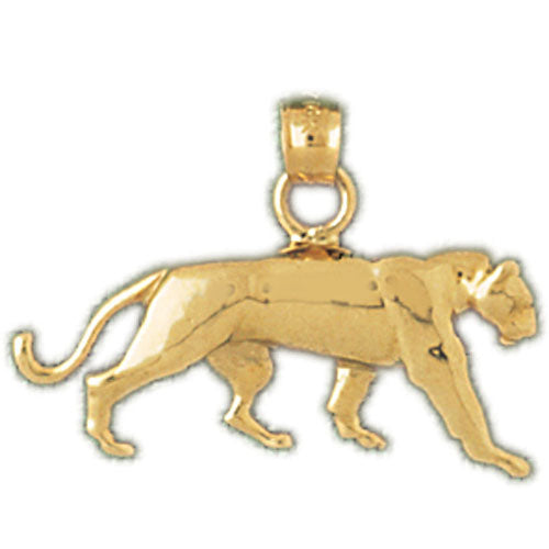 14k Yellow Gold Panther Charm