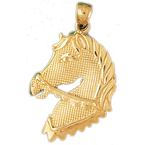 14k Yellow Gold Horse Head Charm