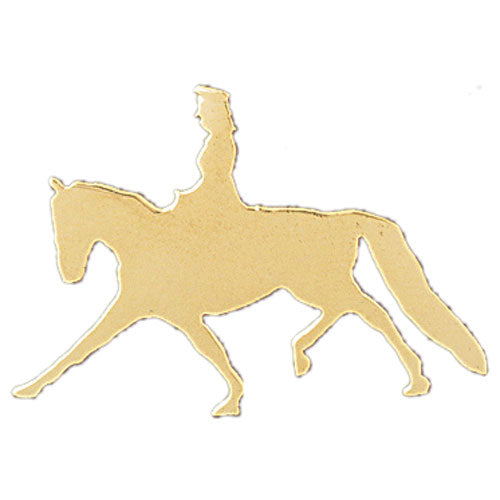 14k Yellow Gold Jockey and Horse Charm