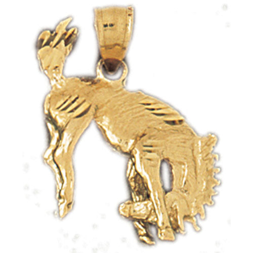 14k Yellow Gold Rodeo Horse Charm