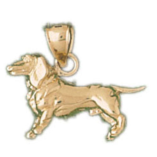 14k Yellow Gold Dachshund Dog Charm