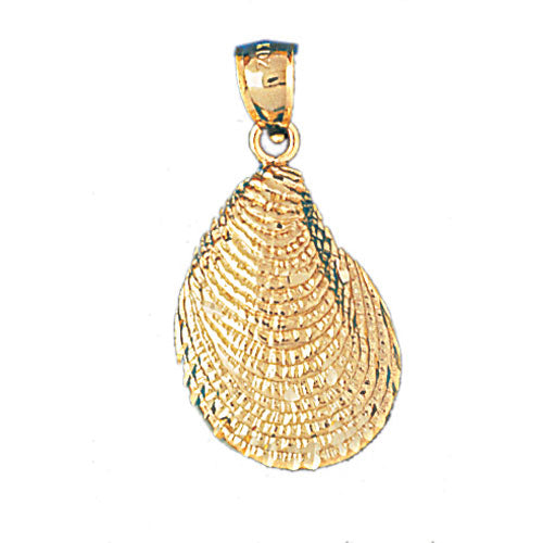 14k Yellow Gold Shell Charm