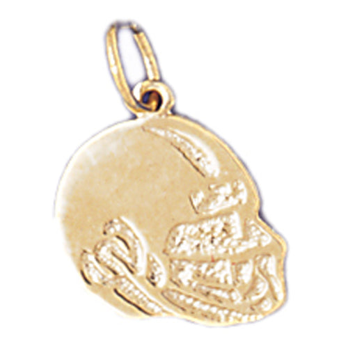 14k Yellow Gold Football helmet Charm