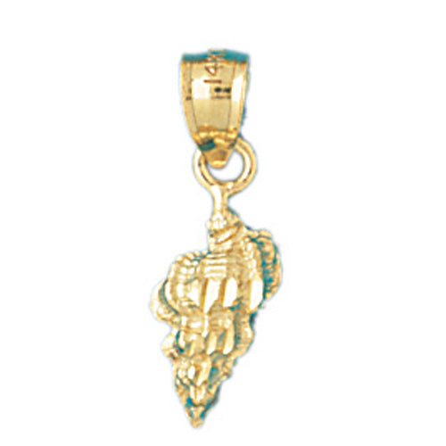 14k Yellow Gold Conch Shell Charm
