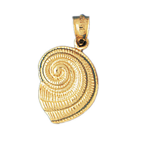 14k Yellow Gold Nautilis Shell Charm
