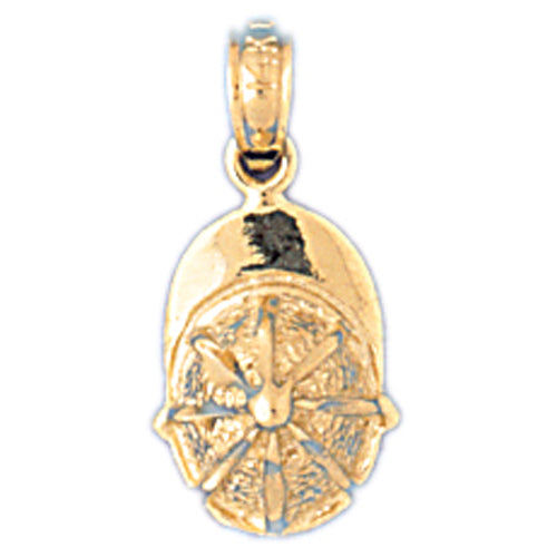 14k Yellow Gold Jockey Helmet Charm