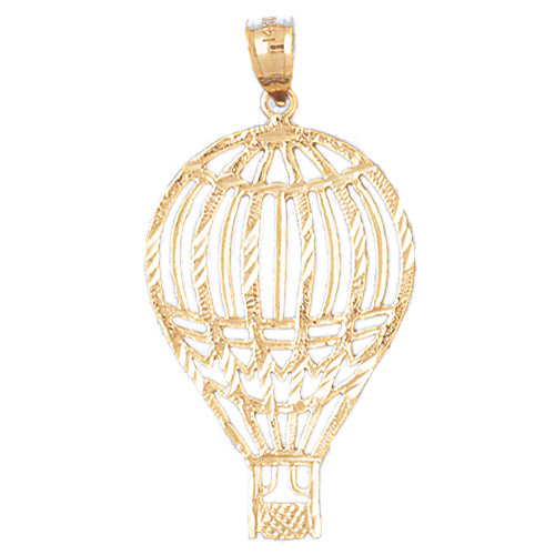 14k Yellow Gold Hot Air Balloon Charm