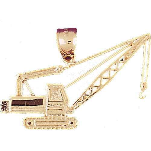 14k Yellow Gold Crane Charm