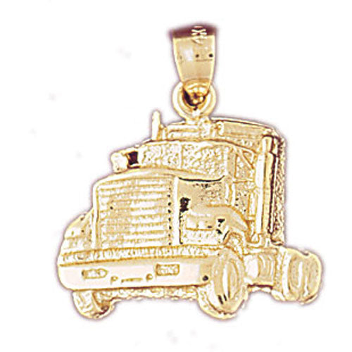 14k Yellow Gold Truck Charm