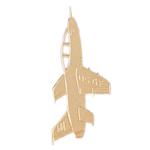 14k Yellow Gold USAF Space Shuttle Charm