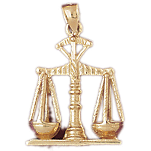 14k Yellow Gold Weights of Justice Charm