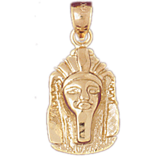 14k Yellow Gold King Tut Charm