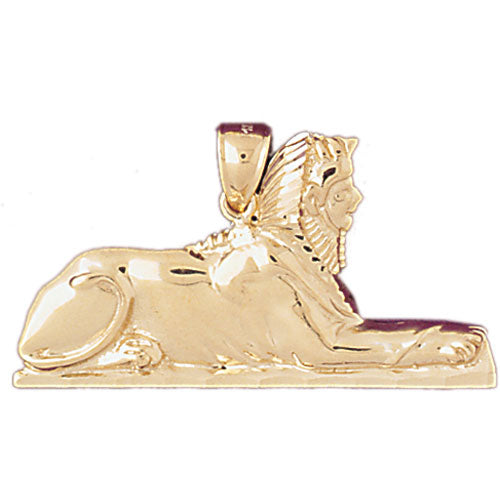 14k Yellow Gold Sphinx Charm