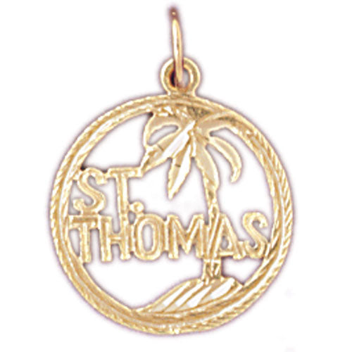 14k Yellow Gold St. Thomas Charm