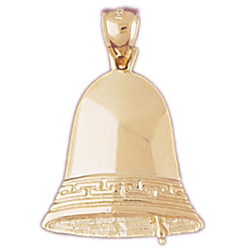 14k Yellow Gold Liberty Bell Charm