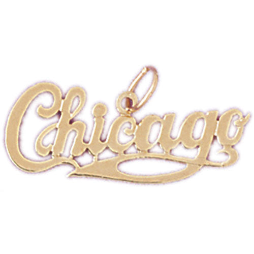 14k Yellow Gold Chicago Charm