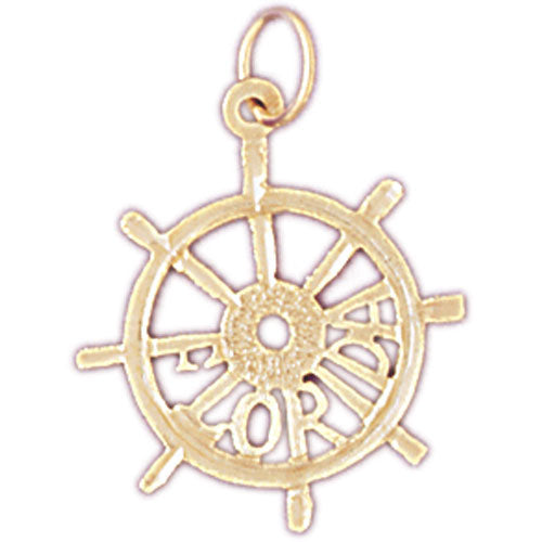 14k Yellow Gold Florida  Charm