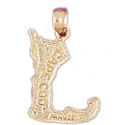 14k Yellow Gold Cape Cod Charm