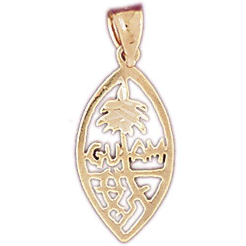 14k Yellow Gold Guam Charm