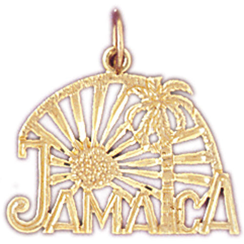 14k Yellow Gold Jamaica Charm