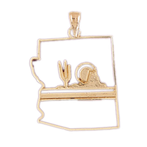 14k Yellow Gold New Mexico Charm