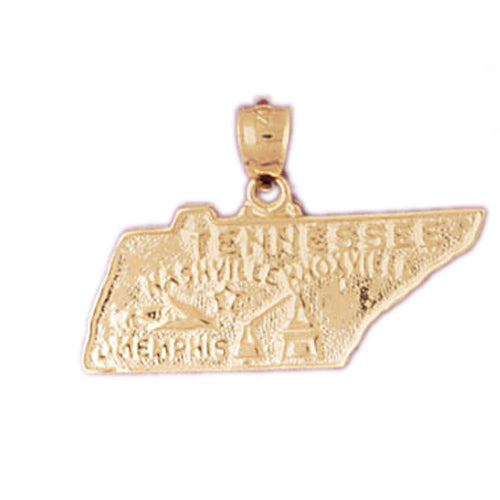 14k Yellow Gold California Charm