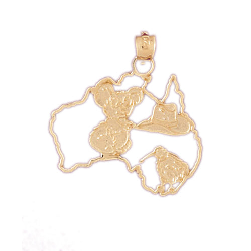 14k Yellow Gold United States of America Charm
