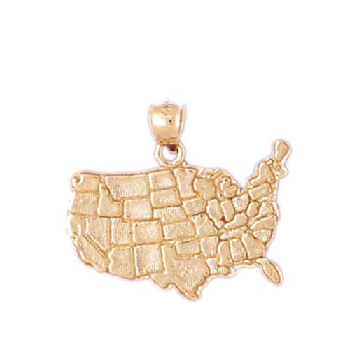 14k Yellow Gold Australia Charm