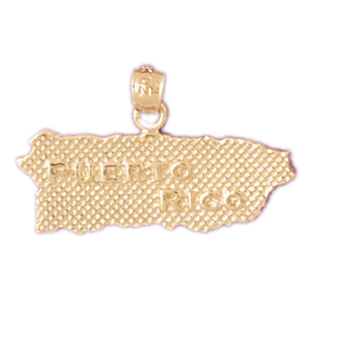 14k Yellow Gold Puerto Rico  Charm