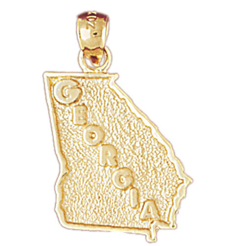 14k Yellow Gold Georgia Charm