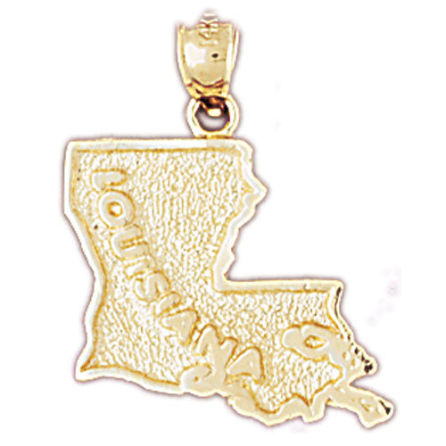 14k Yellow Gold Louisiana Charm