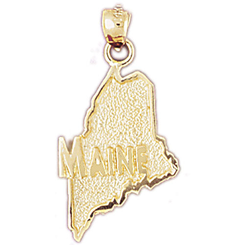 14k Yellow Gold Maine Charm