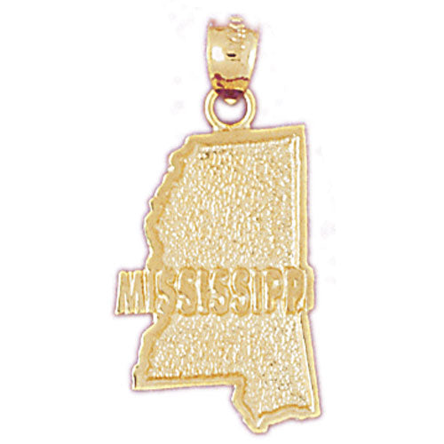 14k Yellow Gold Mississippi Charm