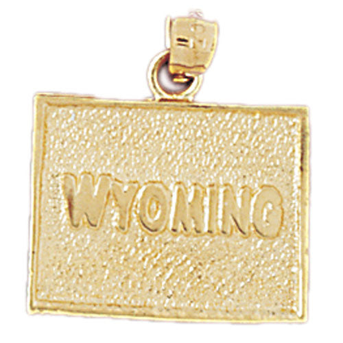 14k Yellow Gold Wyoming Charm