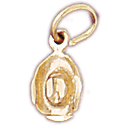 14k Yellow Gold 3-D Cowboy Hat Charm