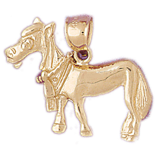 14k Yellow Gold Donkey Charm