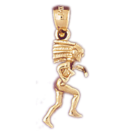 14k Yellow Gold 3-D Indian Charm